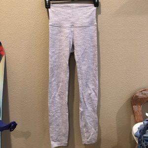 Size 2 light grey leggings lululemon